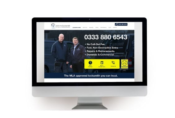 Example of Website Design and Build for Pick Me Locksmith